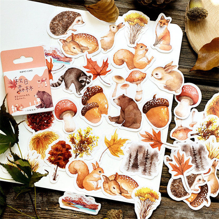 Forest and animals sticker pack - 55 cute stickers