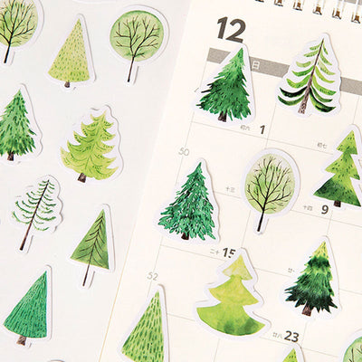 Tree sticker pack - 45 cute stickers