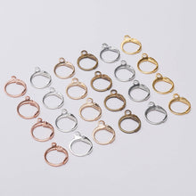 Load image into Gallery viewer, Round lever back hoop earring hooks 10pcs (5 pairs) Nickel free, lead free and cadmium free
