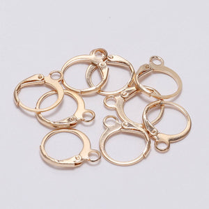 Round lever back hoop earring hooks 10pcs (5 pairs) Nickel free, lead free and cadmium free