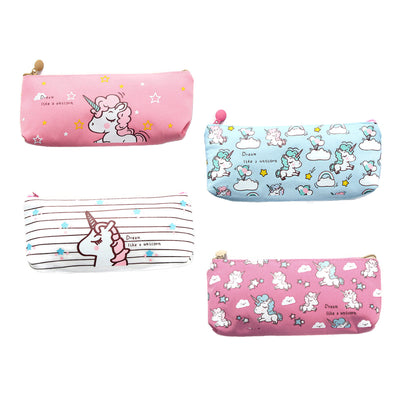 Kawaii unicorn transparent pencil case, Cosmetic bag, School office supplies, Document bag, File folder stationery organizer