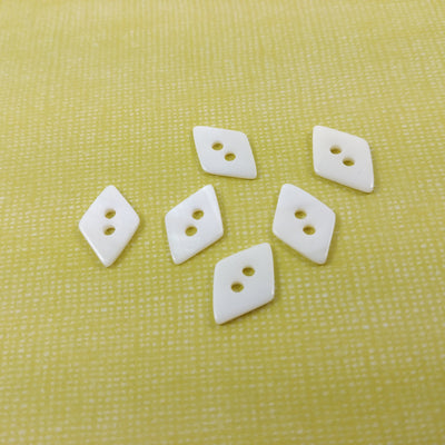 Lozenge MOP buttons - Mother of Pearl Shell Buttons 14mm - set of 6