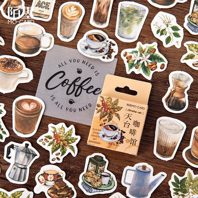 For coffee lover sticker pack - 45 cute stickers