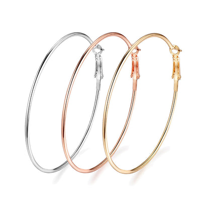 Big brass hoops - Nickel free, lead free and cadmium free earwire