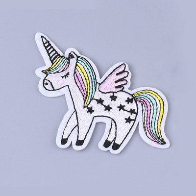 Rainbow unicorn iron on patches, embroidered patch, sew on patch