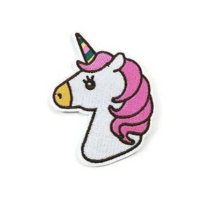 Big unicorn iron on patch, embroidered patch, sew on patch