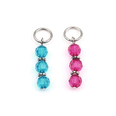 Stitch markers for knitting or crochet - Choose your color - Aqua or Pink