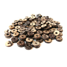 Load image into Gallery viewer, Coconut Bead - 100 Eco Friendly Donuts Rondelle Disk Beads 9mm