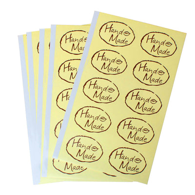Handmade tags - Set of 20 stickers label