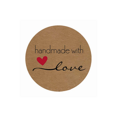 24 Stickers - Handmade with love