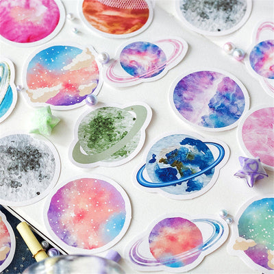 For infinite universe dreamers sticker pack - 45 planet stickers
