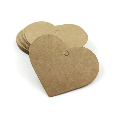 Big heart gift tags - blank kraft paper tags - Set of 25
