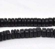 Load image into Gallery viewer, Black Coco wood Beads - Eco Friendly Donuts Rondelle Disk Beads 8mm - 100pcs