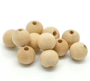 Natural Wood Beads round 10mm unfinished spacer beads 50pcs