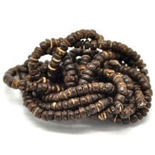 "Load image into Gallery viewer, Natural Coconut Wood Beads 5mm - 1 strand 40cm (15-3/4"")"