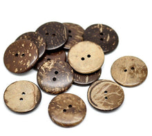 Load image into Gallery viewer, Brown Coconut Shell Buttons 25mm - Natural and Eco Friendly
