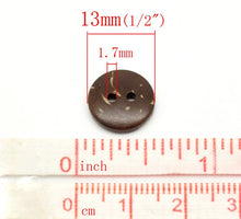 Load image into Gallery viewer, 12 Brown Coconut Shirt Buttons 13mm - Natural Wood and Eco Friendly