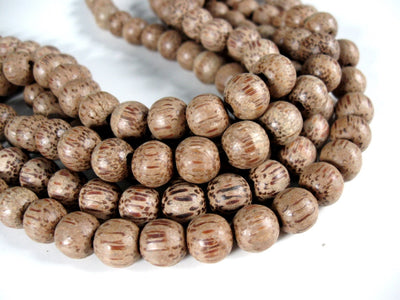 75 Natural wood Beads - Round coconut Beads 11mm