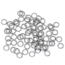 Load image into Gallery viewer, Stainless steel jump ring hypoallergenic silver jump ring 5mm - 500pcs Wholesale or 75 pcs