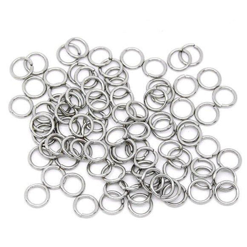 Hypoallergenic Silver JumpRings 7mm - 500pcs Wholesale or 50 pcs Stainless Steel Jump Rings