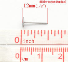 Load image into Gallery viewer, Stainless steel Earring post Hypoallergenic  12mm x 5mm