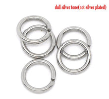 Load image into Gallery viewer, Hypoallergenic Silver JumpRings 7mm - 500pcs Wholesale or 50 pcs Stainless Steel Jump Rings