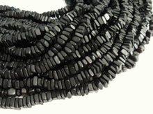 Load image into Gallery viewer, Black Wood CocoNut Shell Beads - Square cut beads 6mm - Half strand