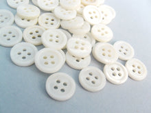 Load image into Gallery viewer, Mother of pearl buttons 10mm - set of 10 eco friendly natural buttons