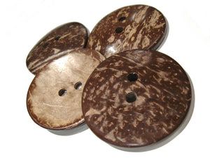 Large button 2 inch coconut button 5cm - Natural Wood and Eco Friendly button