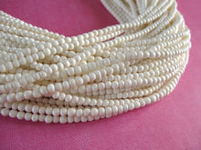 Load image into Gallery viewer, White bone beads, 100 bone round beads 3-4mm, eco friendly and natural bone beads