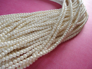 White bone beads, 100 bone round beads 3-4mm, eco friendly and natural bone beads
