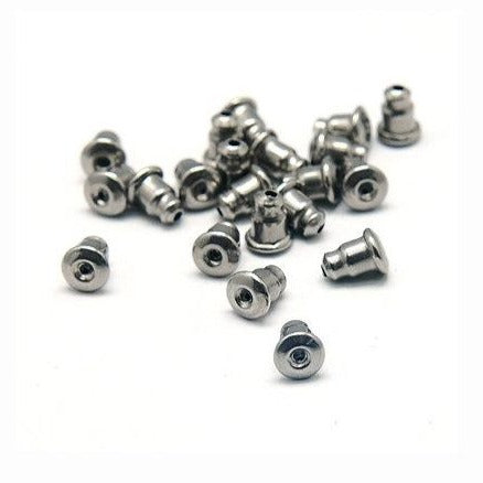Earring back stopper stainless steel earnut hypoallergenic 5mm
