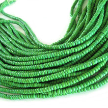 Load image into Gallery viewer, Coconut bead 120 lime green wood Beads - Coconut Rondelle Disk Beads 4-5mm