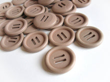 Load image into Gallery viewer, 1 inch wooden buttons - Beige buckle buttons 25mm - set of 6