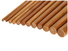 Load image into Gallery viewer, Crochet needles Set of 12 Sizes Bamboo Crochet Hooks 15cm (6 inches)