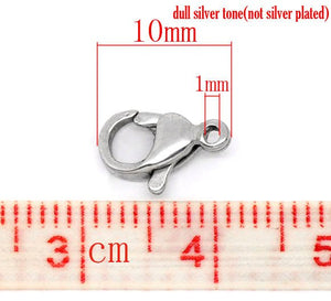 Stainless steel lobster clasp hypoallergenic 10mm x 6mm
