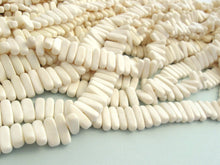 Load image into Gallery viewer, 32 White bone stick beads 15mm - eco friendly and natural bone beads