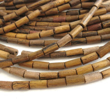Load image into Gallery viewer, 24 Robles Barrel Wooden Beads 4x8mm