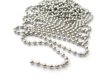 Load image into Gallery viewer, Big Stainless Steel Ball Chain 4mm - 10 feet