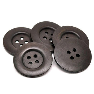 "Extra large button - 3 dark brown wooden buttons 50mm (2"")"