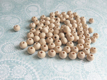 Load image into Gallery viewer, Natural Wood Beads round 8mm unfinished spacer beads 90pcs