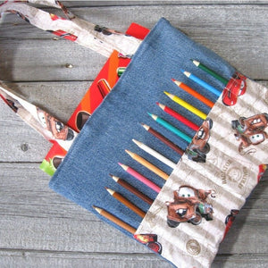 Kid bag sewing pattern DIY Coloring Bag tutorial PDF download ePattern