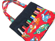Load image into Gallery viewer, DIY Markers Bag Sewing Pattern - Art bag for children tutorial PDF download ePattern