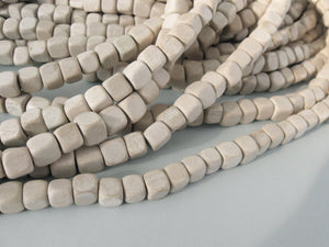 30 Unfinished square wood beads 7mm