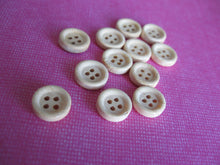 Load image into Gallery viewer, Natural unfinished wood button set of 12 small buttons 10mm
