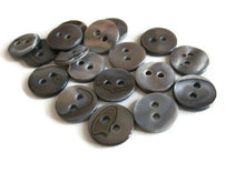 Load image into Gallery viewer, Mother of Pearl Shell Buttons 10mm - set of 8 eco friendly grey buttons