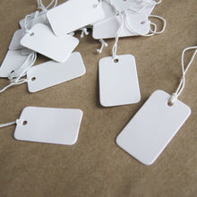 Load image into Gallery viewer, Jewelry price tags - Blank white rectangle tags - Set of 50