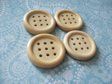 Load image into Gallery viewer, 1 inch buttons - 9 holes wooden buttons 25mm - set of 4