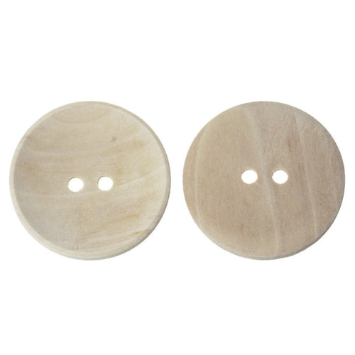 Unfinished wooden sewing buttons 20, 30, 35 or 40mm large buttons - set of 2