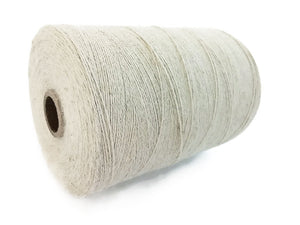 Natural Linen & Organic Cotton Cord 0.7mm - 10 meters/32.8 ft - Brown, White, Black